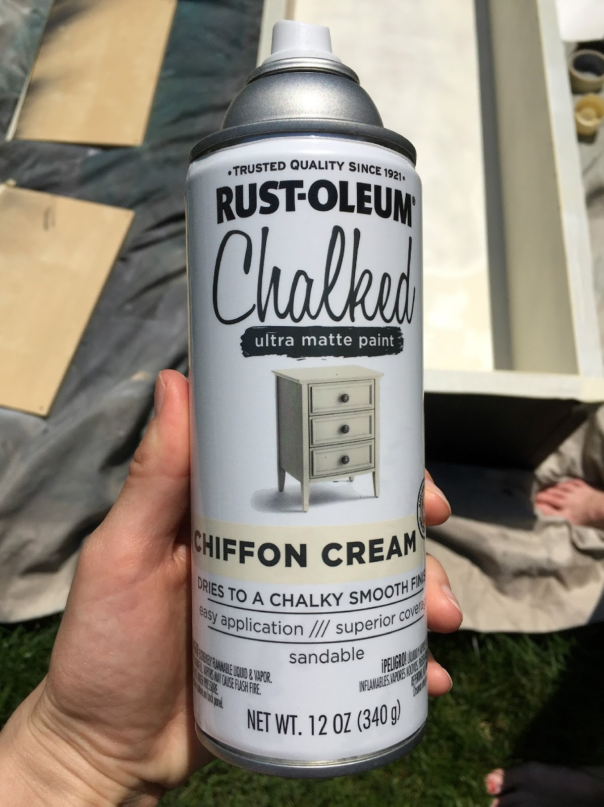 Cream Chiffon Spray Paint