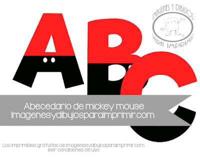 letras mickey mouse para imprimir