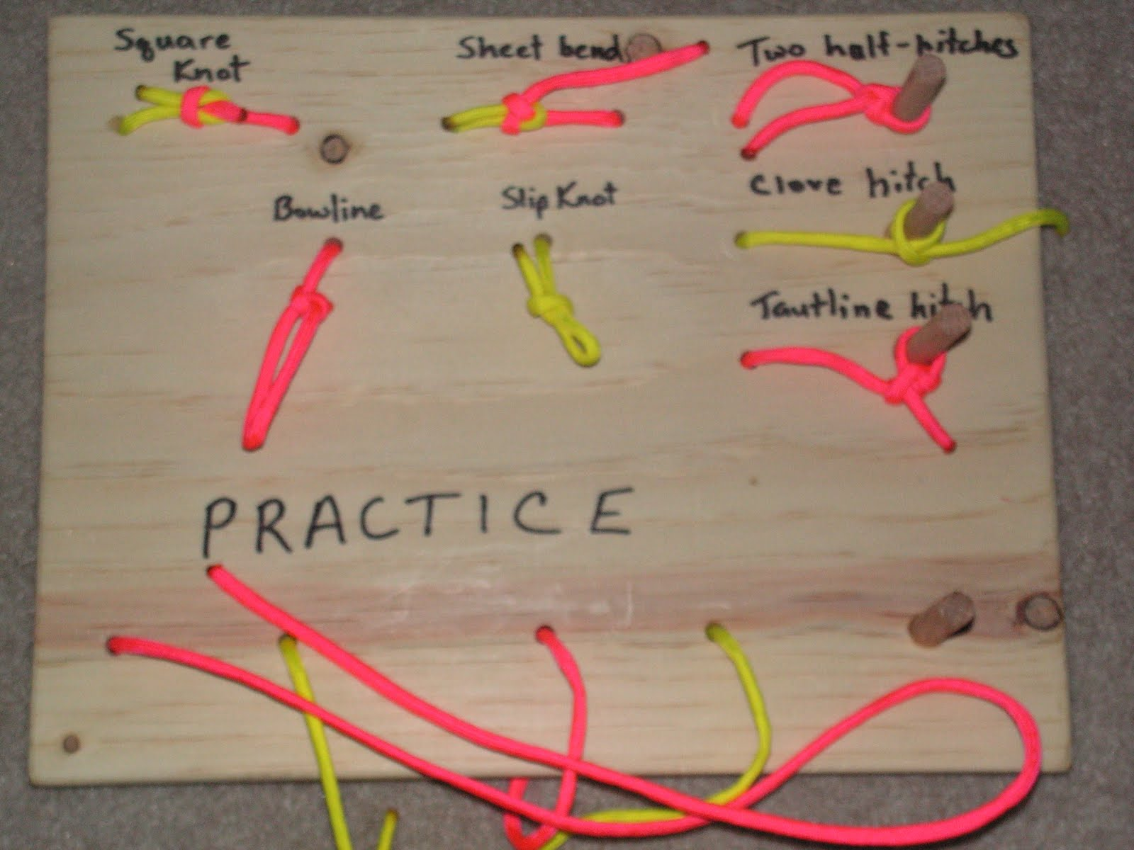 My Little One Room Schoolhouse Cub Scout Knot Practice Boards