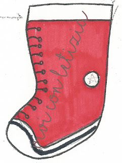 Cartamodello Calza Befana All Star christmas stocking