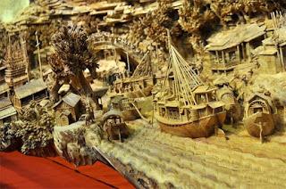 Escultura tallada Zheng Chunhui