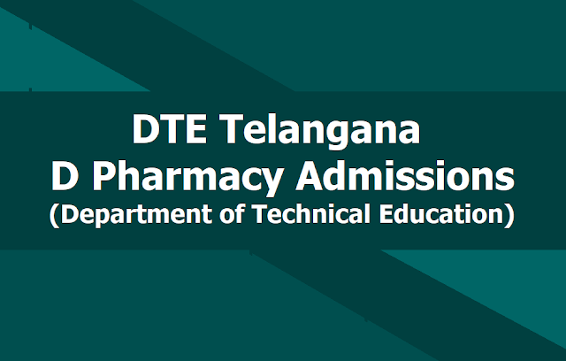 Telangana TS D Pharmacy Admissions 2019, Apply Online till June 1st