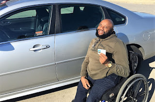 Timothy Redd with his driver's license
