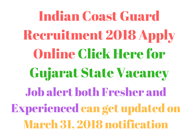 Indian Coast Guard Recruitment 2018 Apply Online
