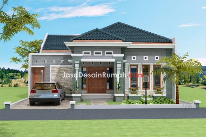 contoh rumah sederhana tapi bagus 1