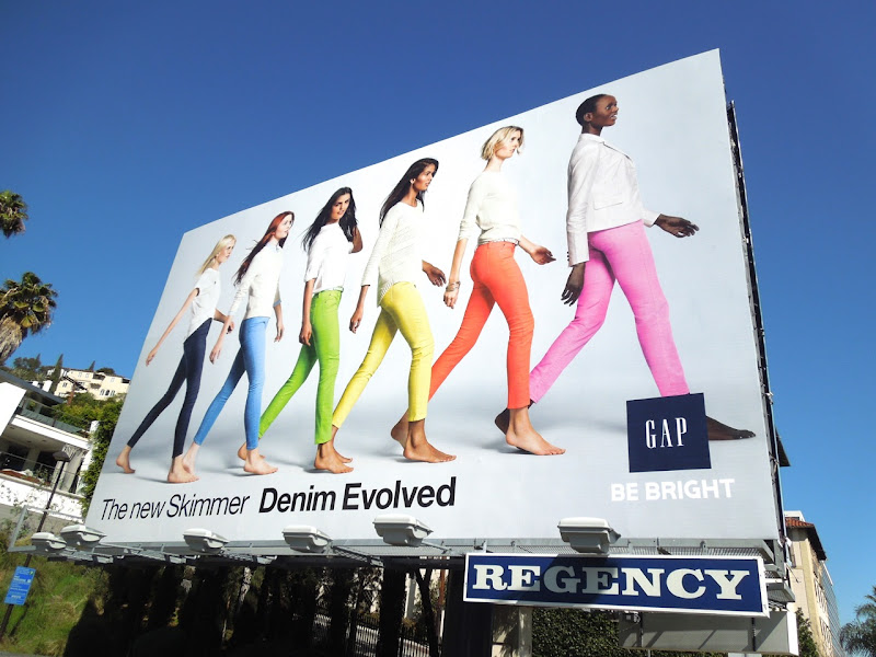 Skimmer Denim Evolved Gap billboard