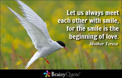 Quotes about friends:Let us always meet each other with smile, for the smile is beginning of love.