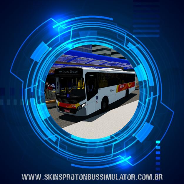 Skin Proton Bus Simulator - Caio Apache VIP IV MB OF-1721L BT5  Viação Alpha