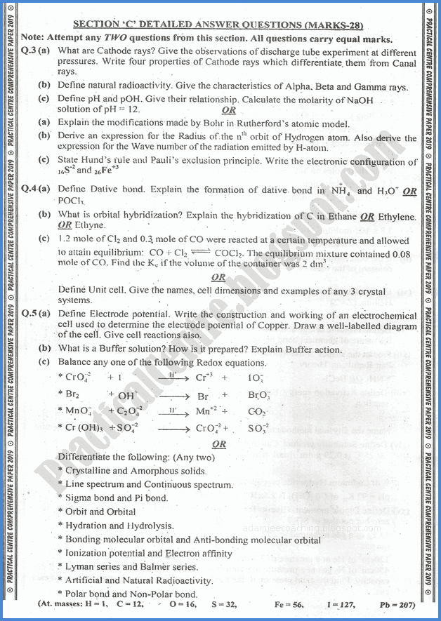 chemistry-xi-practical-centre-guess-paper-2019-science-group