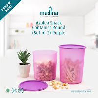 Dusdusan Azalea Snack Container Round Set (Set Of 2) Purple ANDHIMIND
