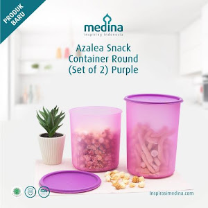 Azalea Snack Container Round Set (Set Of 2) Purple