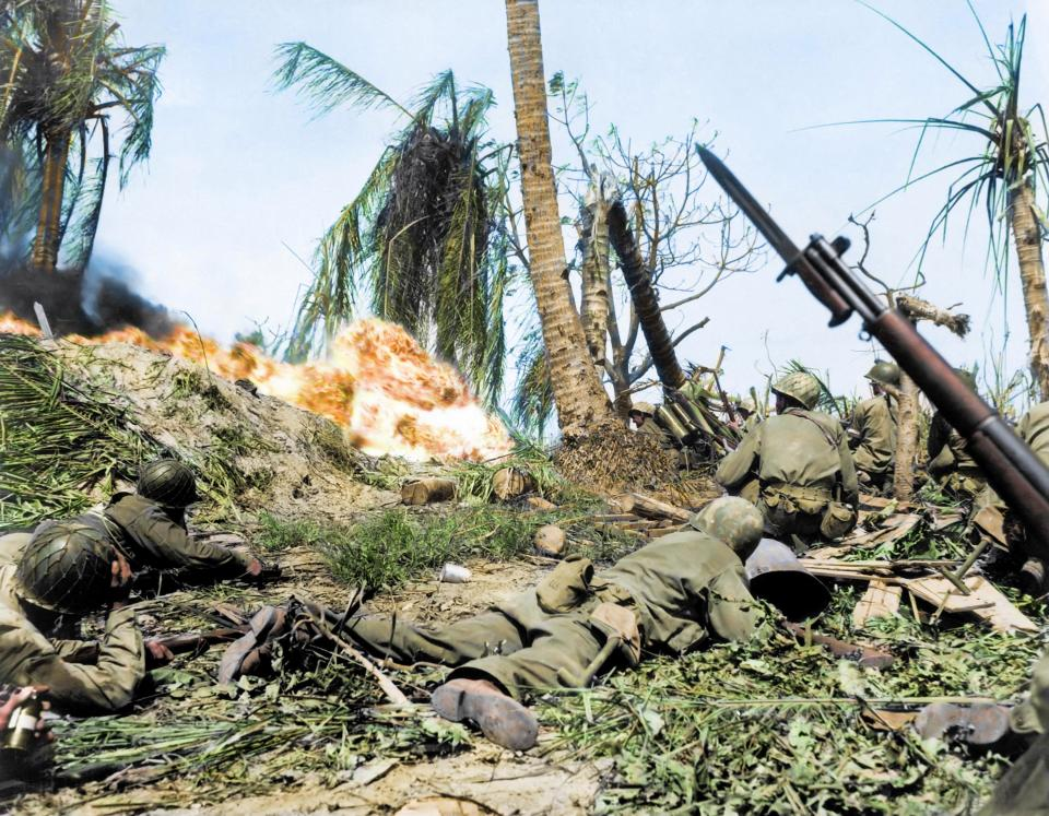 Breathtaking Colorized Photos Show the Horror of the War in the Pacific During World War II