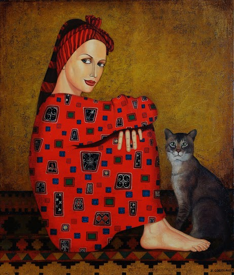 Zviad Gogolauri, Woman in red