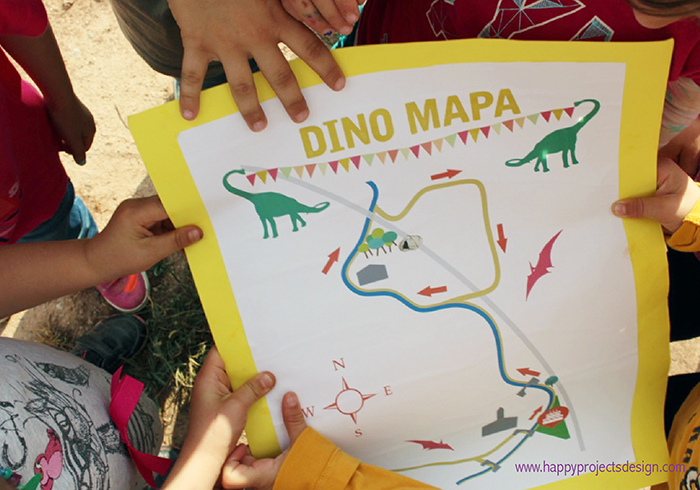 picnic dino party: dino map