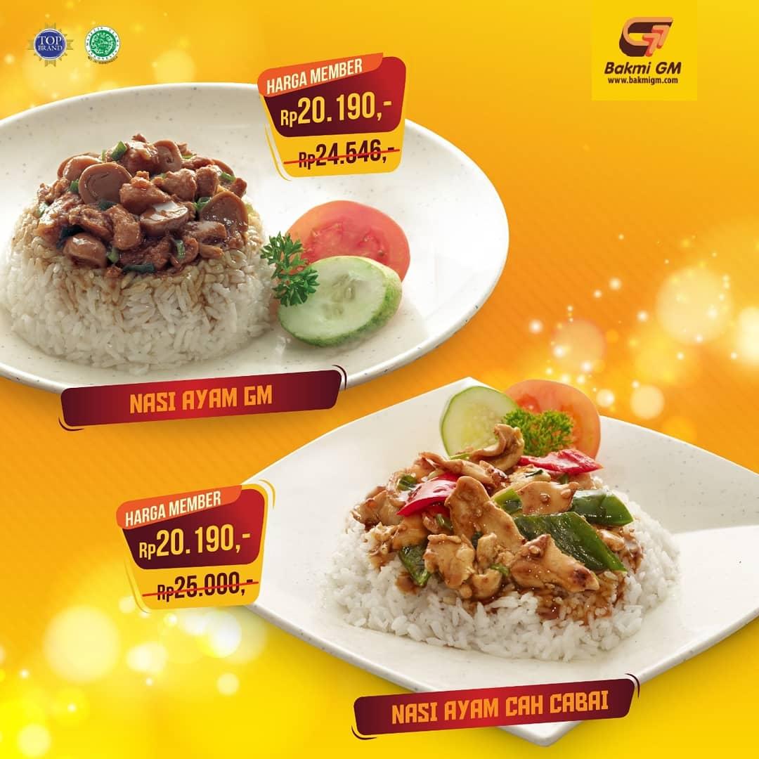 #BakmiGM - #Promo Paket 20190 Nasi Ayam GM, Bakmi dan Ayam Cah Cabai