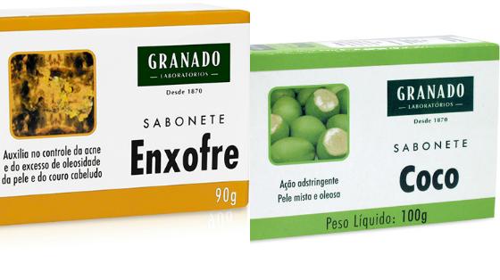 sabonete enxofre ou coco granado
