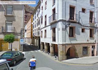 Calle del Carmen / Plaza de la Estrella. Nájera. La Rioja (España)