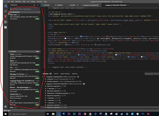 banyak tools yang tersedia (plugin store, search, dll)