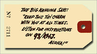 KHJ Big Kahuna Tiki Charm Tag (Rear)