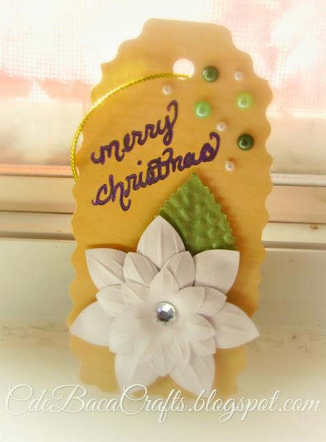 Christmas gift tag made by CdeBaca Crafts.