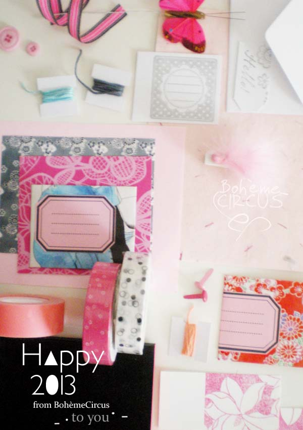 happy+2013+ ++giveaway+copyright+by++bohemecircus Stationery Giveaway at Boheme Circus