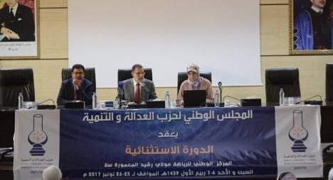 البلاغ الختامي لأشغال الدورة الاستثنائية للمجلس الوطني لحزب العدالة والتنمية