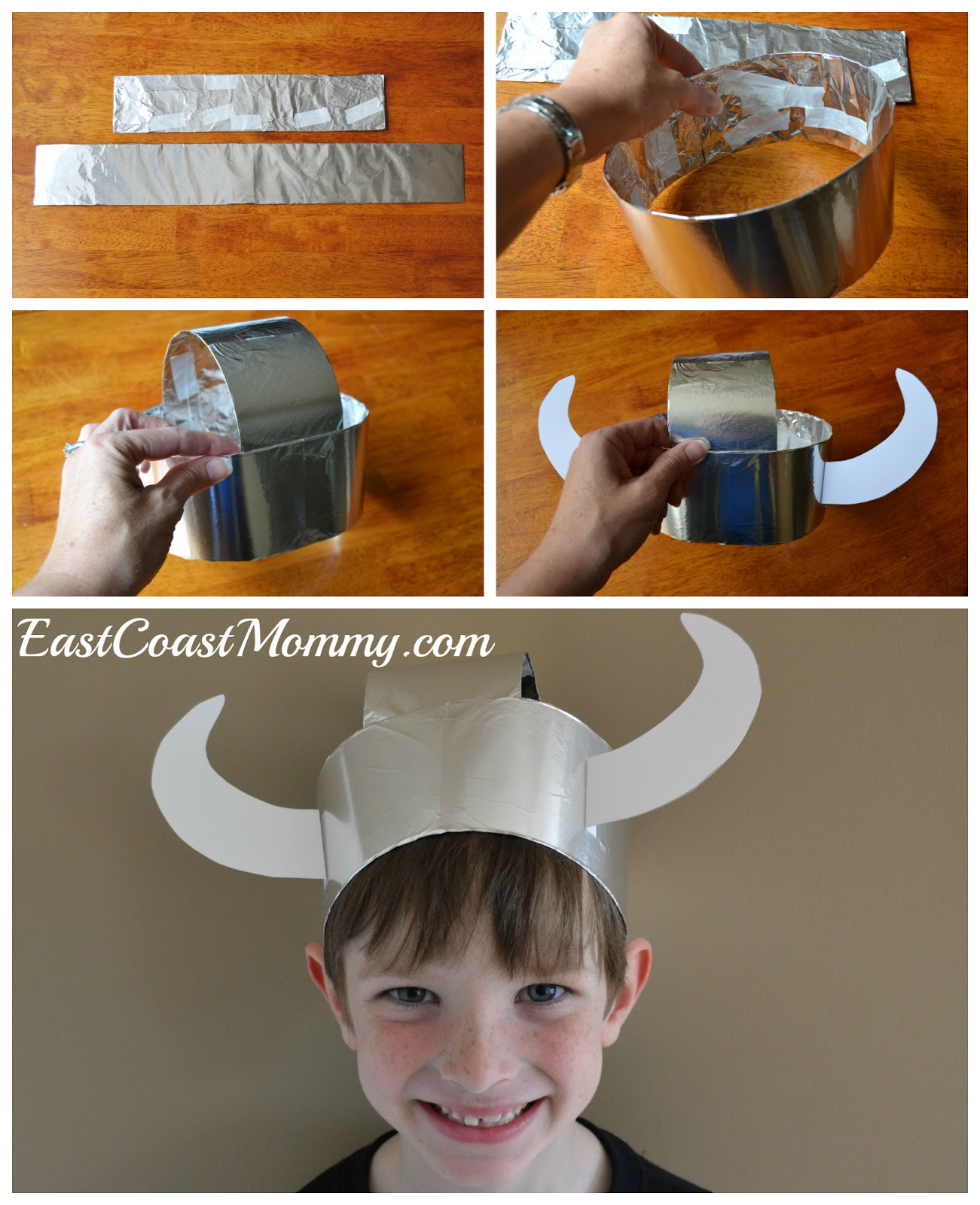 East Coast Mommy: Simple Paper Viking Helmet