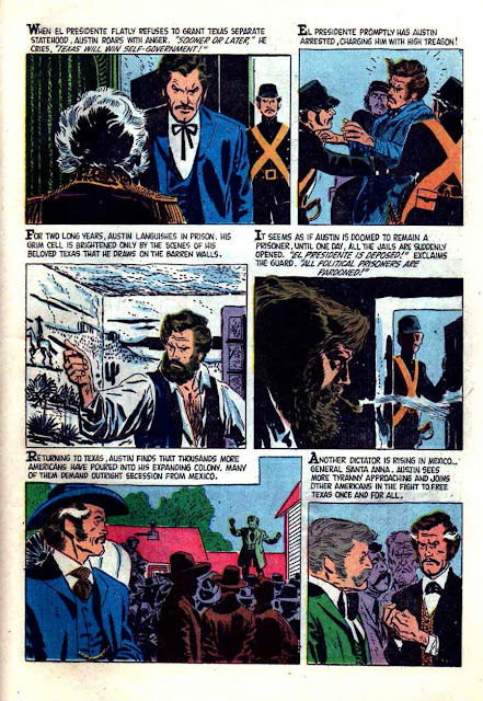 Jace Pearson's Tales of the Texas Rangers v1 #15 dell western comic book page art by Alex Toth