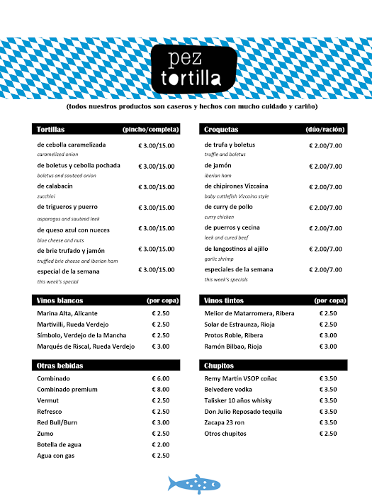 Carta Pez Tortilla
