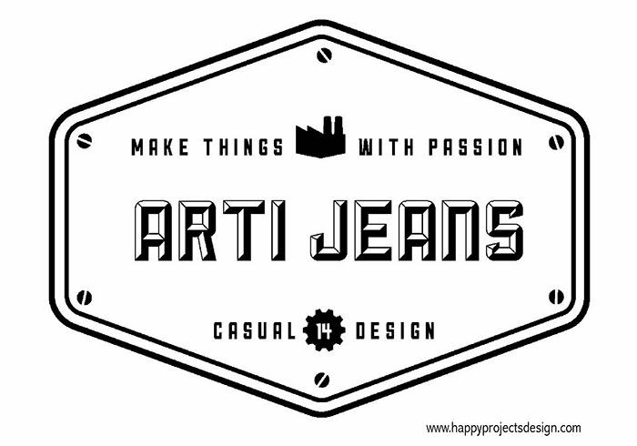 Logo industrial vintage prediseñado de Dustin Lee
