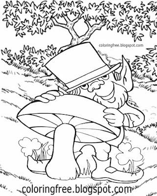 Cartoon kids clipart pictures Ireland fairytale coloring leprechaun magic wish Irish little people