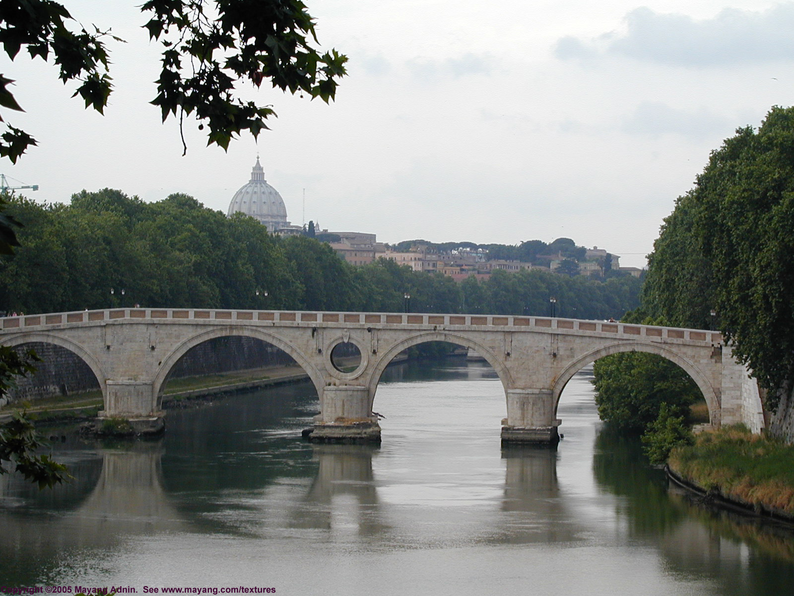 Bridge River Picture Bridge In Rome