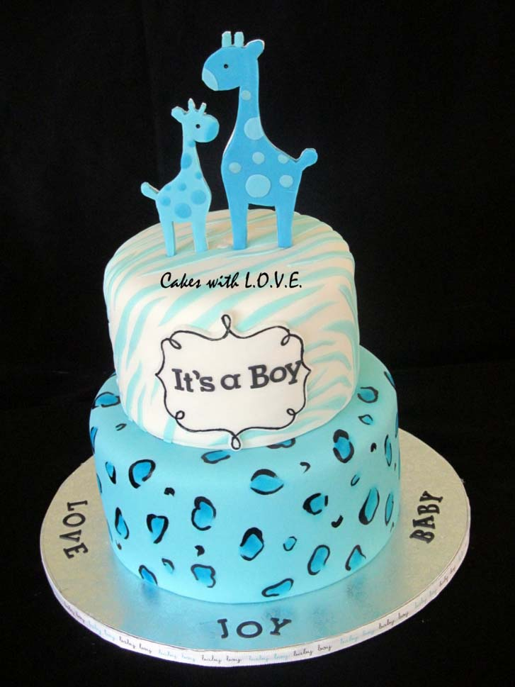 1 Pictures Of Baby Boy Shower Cakes Ba Giraffe
