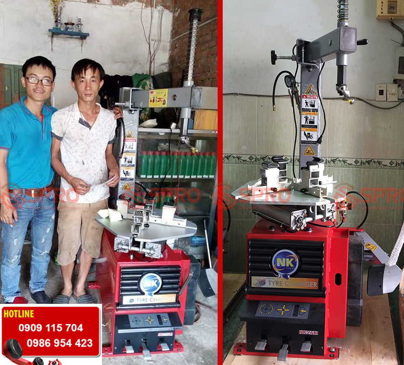 Máy tháo vỏ chuyên dùng cho xe tay ga NK24M - Nên mua máy tháo vỏ nào tốt nhất cho tiệm sửa xe tay ga
