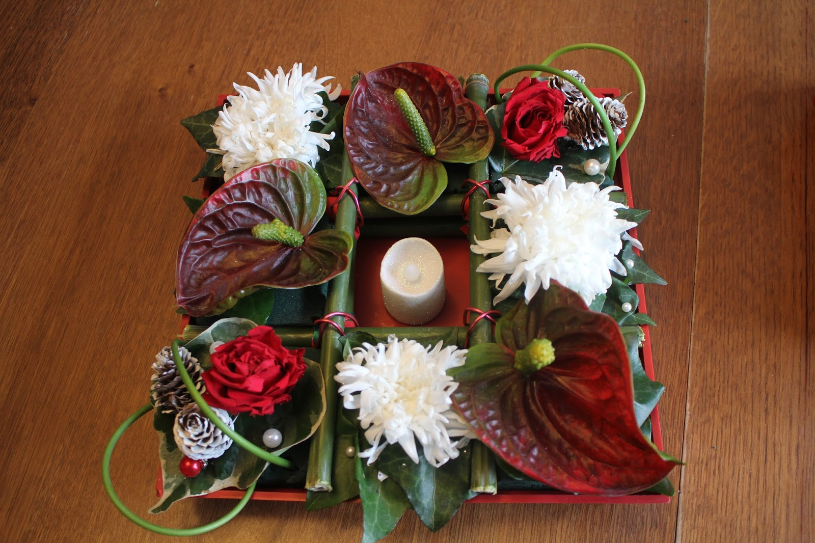 art floral breal pi ce mont e de no l. Black Bedroom Furniture Sets. Home Design Ideas