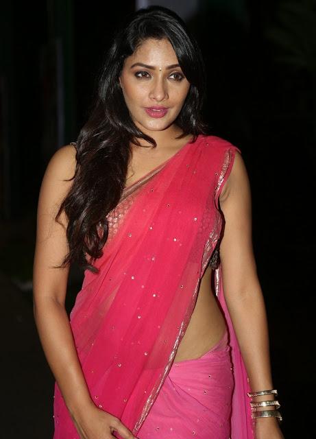 Telugu actress Kesha Khambhati in saree