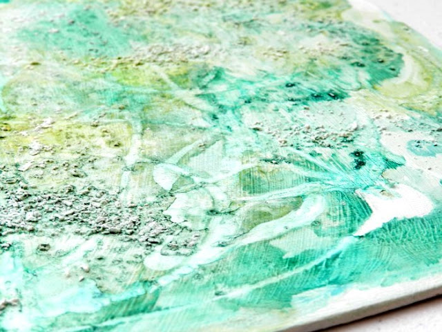 Green Abstract Watercolor, Salt, and Glue Painting: grow creative blog