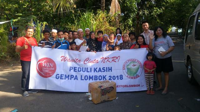 Relawan WIN Tergugah Bencana Lombok Utara.