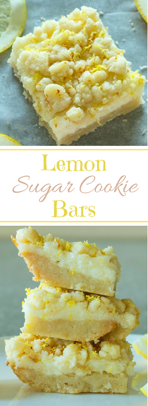 Lemon Sugar Cookie Bars #bars #cookies