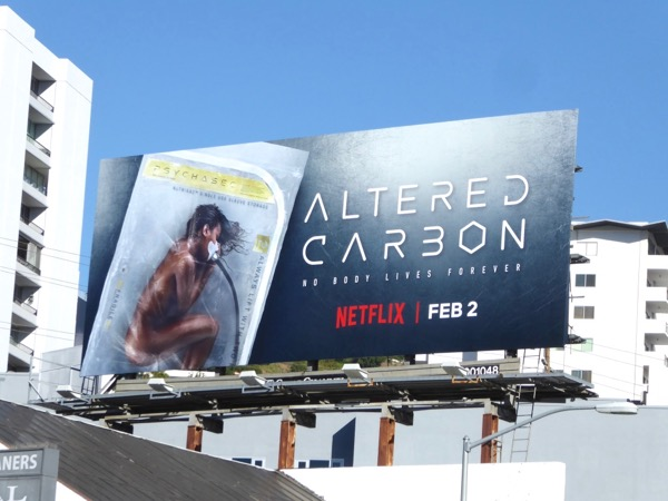 Altered Carbon series launch billboard