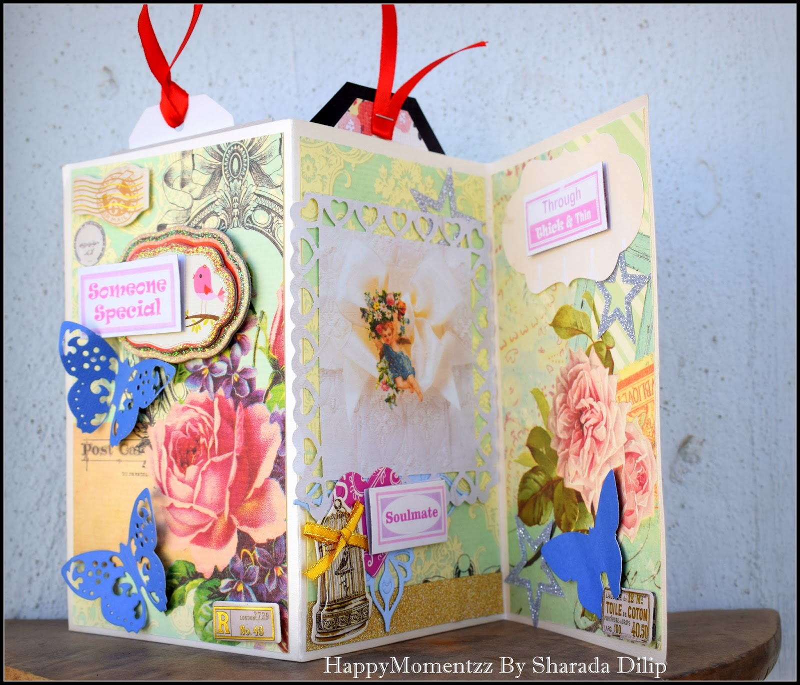 Happymomentzz Crafting By Sharada Dilip Valentines Theme Accordion Card