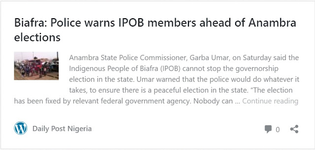 Biafra: IPOB dare police, vows to disrupt Anambra guber election