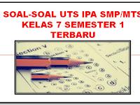 Soal-Soal UTS IPA SMP/MTS Kelas 7 Semester 1 Terbaru