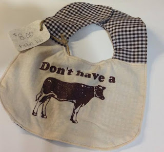don't have a cow tshirt bib