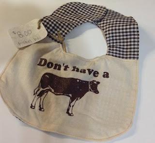 don't have a cow tshirt bib