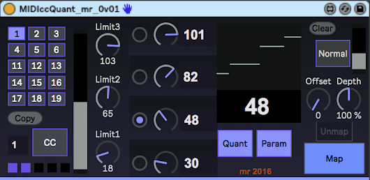 Quantising MIDI controllers in a MaxForLive device for Ableton Live