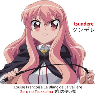 Tsundere girl Louise Françoise Le Blanc de La Vallière, or Zero, from Zero no Tsukkaima ゼロの使い魔