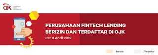 Daftar List Pinjaman Online Resmi dan Legal dari OJK (UPDATE 2019)