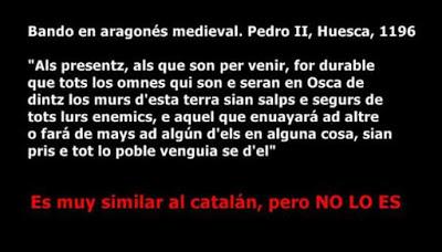 aragonés, Pedro II, Aragó, Aragón, als presentz