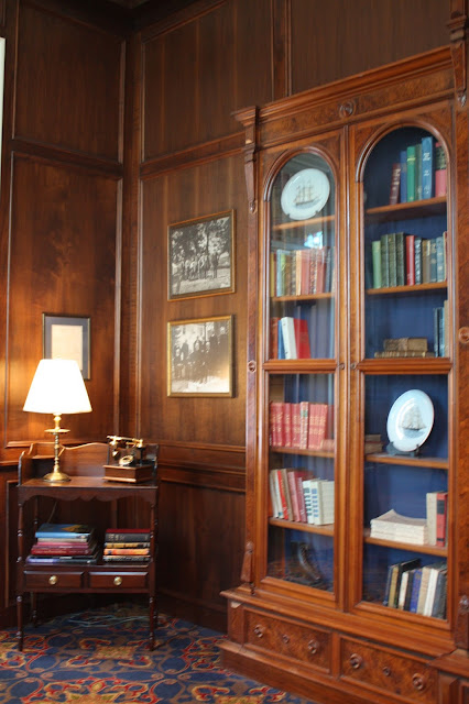 Library at The St. James Hotel in Red Wing, MN